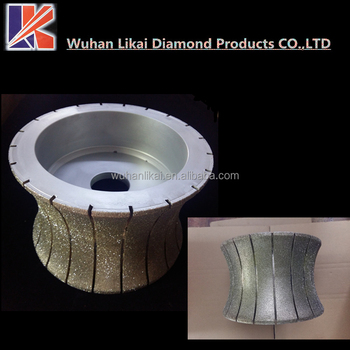 250mm electroplated grinding wheel stone diamond profile wheel