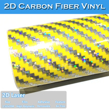New Design Laser 2D Carbon Fiber Fabric Leather
