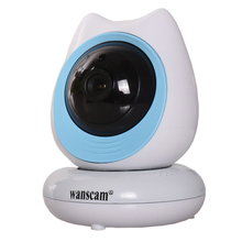 360 Degree 2 Megapixel Baby Monitor P2P Cartoon Robot Wifi IP Camera
