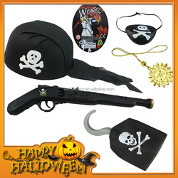 ZP3574SL Wholesale Cosplay Pirate Game Toy Set Pirate, Gun Hook, Eye Patch