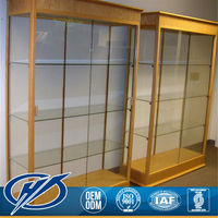 With Custom Sizes Living Room Glass Showcase Design
