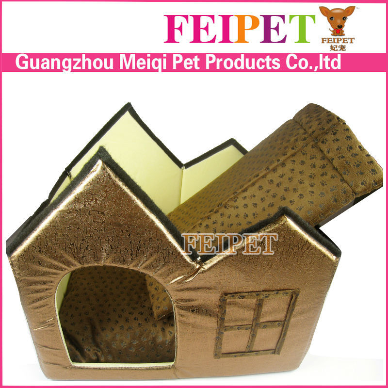 paw printing soft dog bed with cushion large dog house