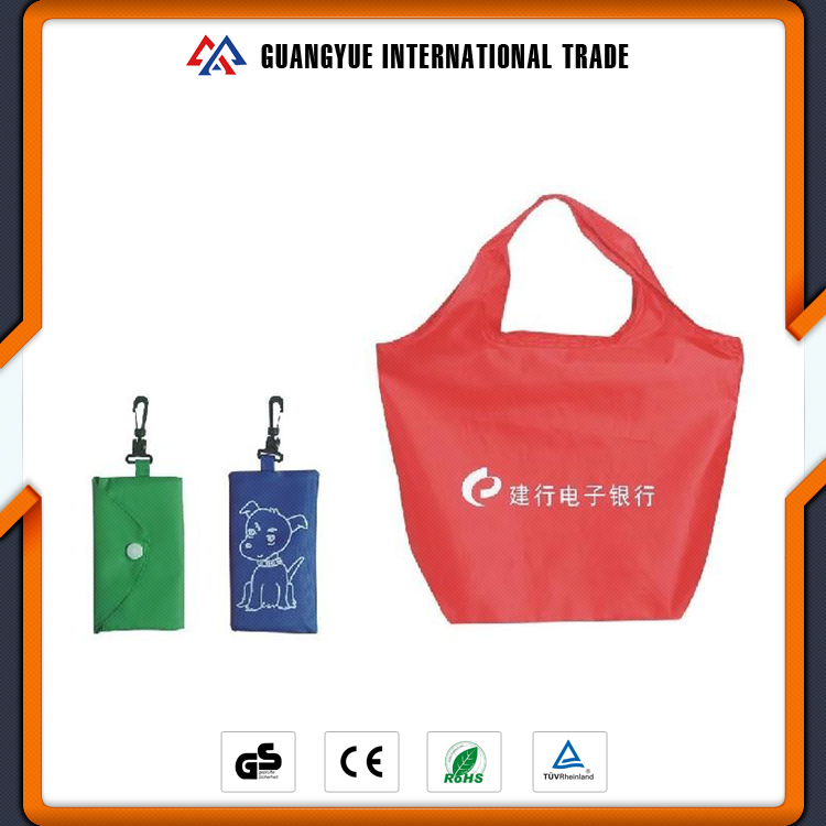 Guangyue OEM Factory Direct Supply Recycled Eco Polyester Folding Shopping Bags