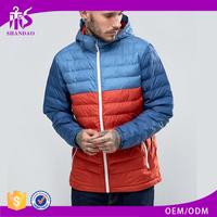 2016 Guangzhou Shandao Custom Color Combination Men Down Feather Winter Bulk Wholesale Jacket