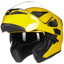DOT approved yellow color Modular flip up motorcycle Helmet with sun shield