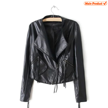 Woman Leather Jacket Motorcycle Polyester Leather Coat Girls Leather Jackets Custom