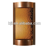 dark copper and bronze mirror wall hanging indoor artificial waterfall fountain