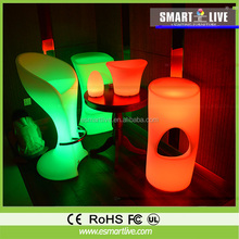 2015 Modern Design Led Party Cube,plastic led cube seating,led Cube Chair