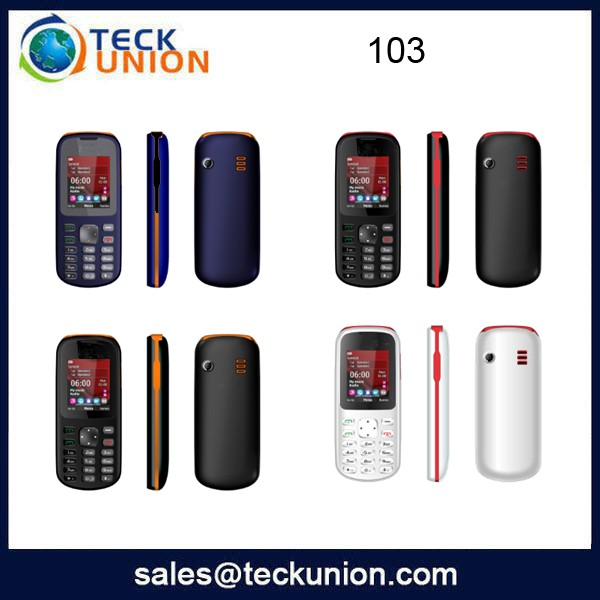 103 1.77inch chip price mobile phone wholesale with basic function cell phone