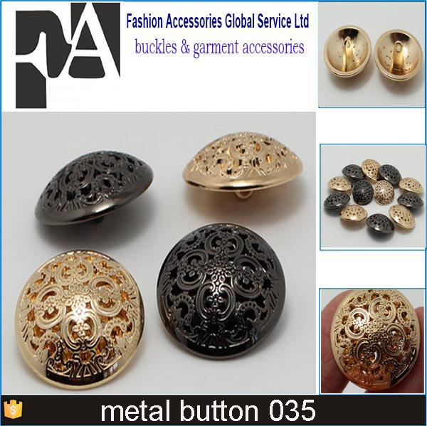 HOT SALE round fashion metal washable push button