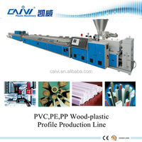 WPC floor profile production line / plastic wood deck profile extruder / wood plastic machine