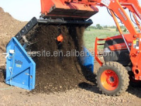 Mini Excavator loader screening attachment