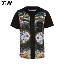 Sublimated digital camo custom cheap baseball jersey