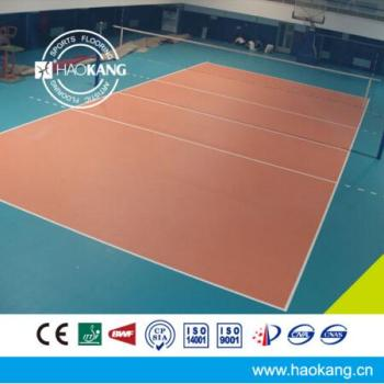 Professional Volleyball Courts Sports Vinyl Flooring