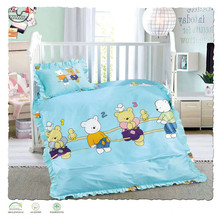 China luxury muslin sheet set wholesale cheap bed clothes baby cot fitted crib bedding set
