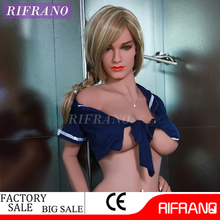 Blue Lingire Blonde Hair American Girl xxxx Used Silicone Sex Doll for Men