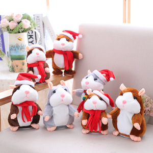 Wholesale Hot Selling Factory Direct Christmas Change Voice Talking Hamster  Plush Repeats Toy 8044a86201