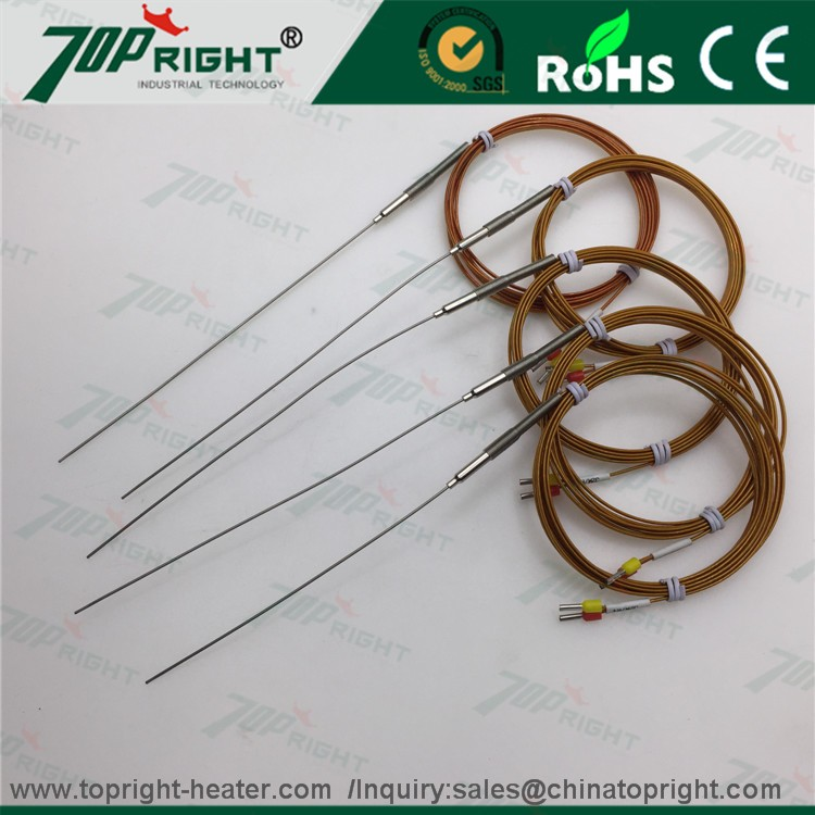 two wire Hot runner J type thermocouple with lead wire