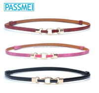 New Fashion Candy Color Ladies leather Belt with Alloy Buckle