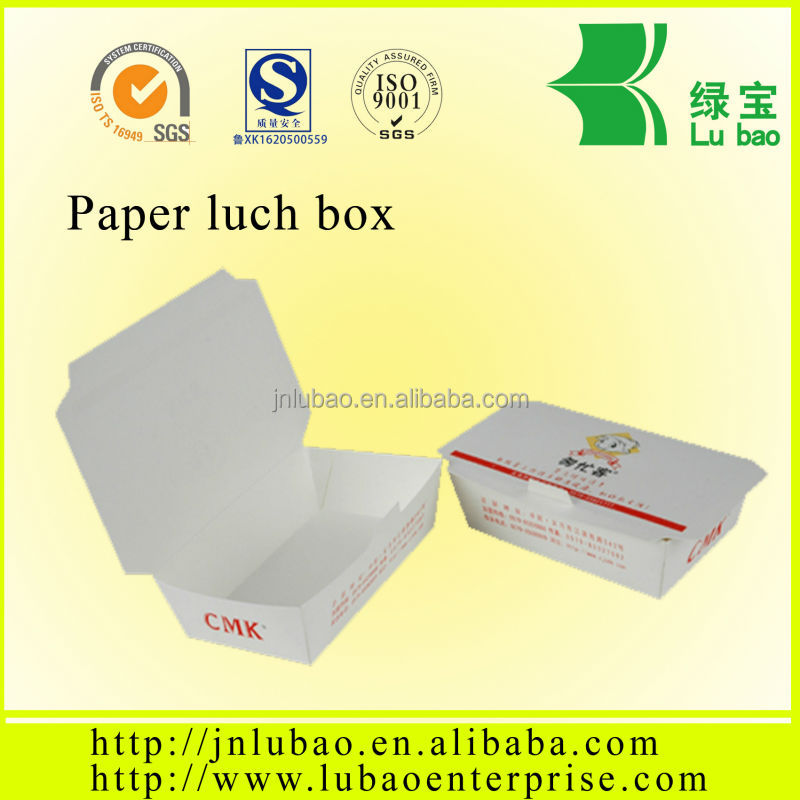 printable paper lunch box for cooked food to take out