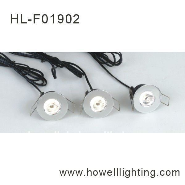 BF01902 NINGBO aluminum small round shape modern decorative look silver High Quality 3x1W led recessed ceiling light