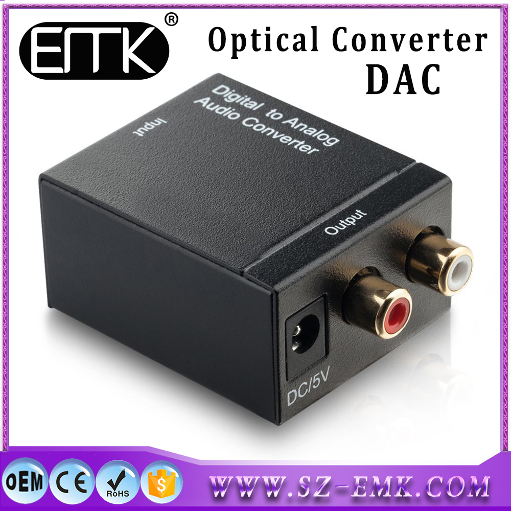 Digital to Analog Audio Converter Adapter RCA Cable Optical Coaxial Toslink Signal to Analog Audio Converter Adapter