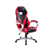 Red and black soft designer leather racing seat gaming chair for sale