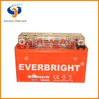 Stable quality MG7E battery dry 12v for motorcyle