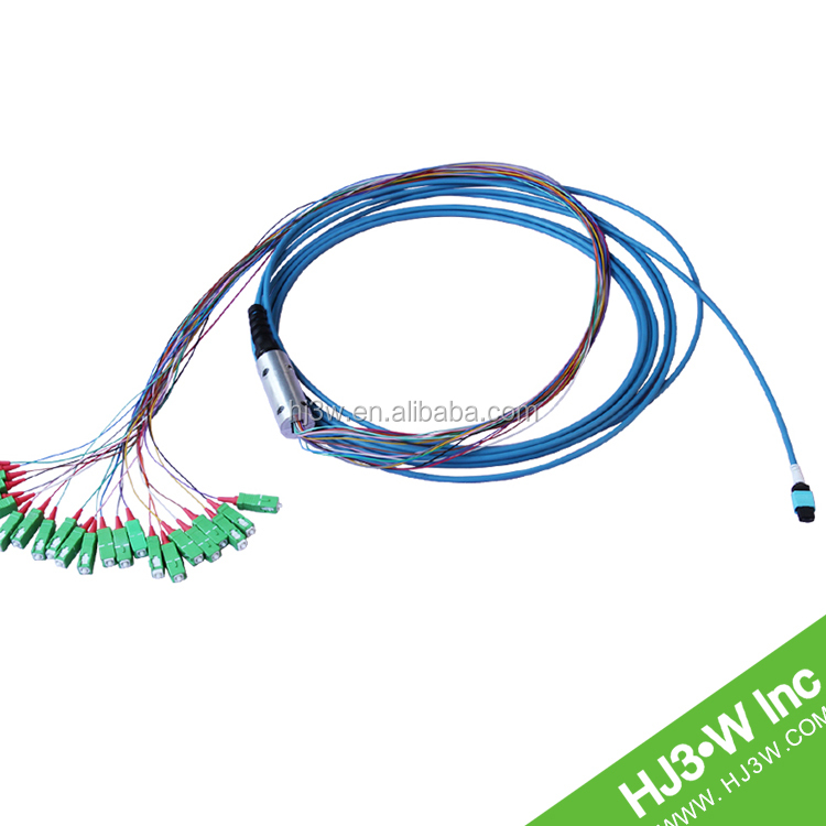 12 core 1310/ 1550 Singelmode SC(APC)-MPO(Female) fiber patch cord/fan out/splitter for telecommunication