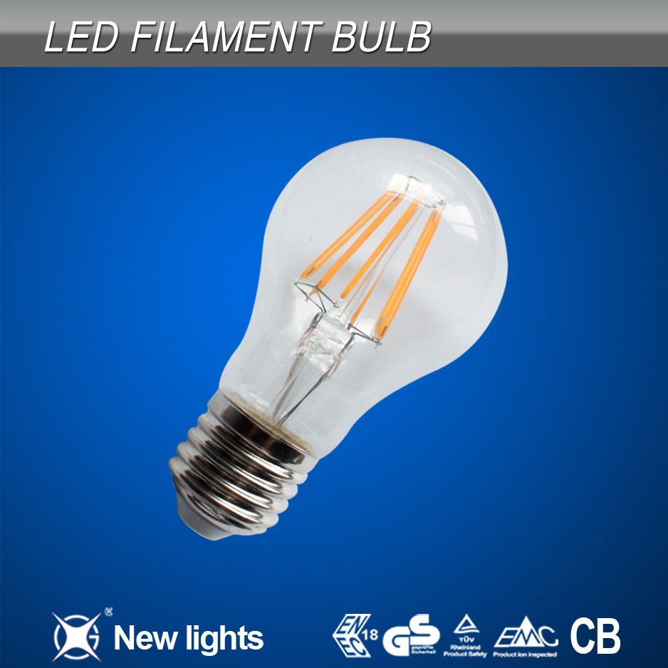 High CRI 2W 4W 6W 8W led filament bulbs dimmable