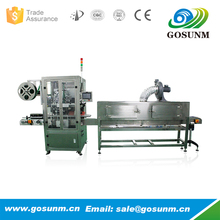 automatic PE bottle shrink label sleeve trapping labeling machine with electric steam shrink stove