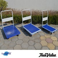 Airport Platform Trolley, cheap stainless steel folding Heavy Duty Platform Hand Truck