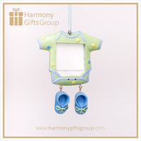Green Baby Clothes Photo Frame Ornament Baby Shower Souvenir Gifts