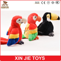 top selling best quality stuffed parrot soft toy stuffed plush talking parrot toy