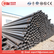 ASTM A53 Q235B ERW welded Non-alloy Black Carbon Steel Pipe used for Building Material