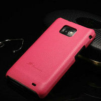 high quality unique fancy luxury fashion hot selling genuine leather hard cover case for samsung galaxy s2