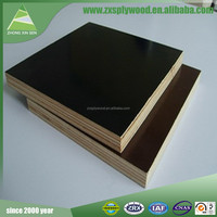 Linyi manufacture black/brown two times hot press waterproof film faced plywood