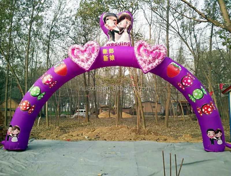 inflatable big heart decoration wedding arch gate
