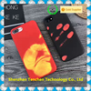 2017 Newest arrival heat temperature sense for iPhone phone case, Temperature Heat Sense for iPhone phone case Color Changing