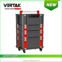 handle Toolstation Box Set with tote aluminum