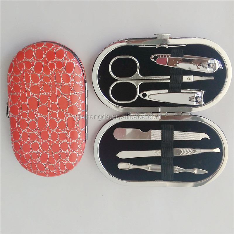 High quality stainless steel manicure set in case