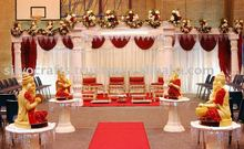 fiber wedding mandap decoration with stage Ganesha