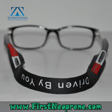 Factory production 3mm thick neoprene glasses strap for kids