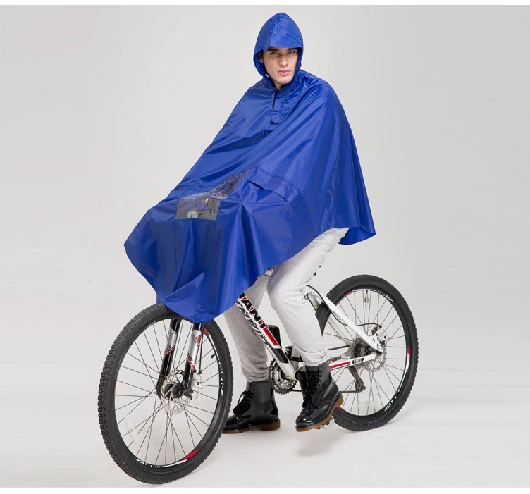 raincoat using in ride a bike bicycle