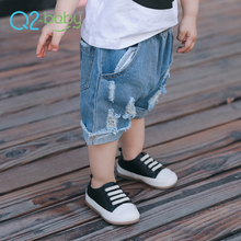 Q2-baby Summer Blue Clothes Baby Denim Short Jeans Pants For Boys