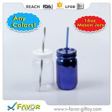 New Promotional Plastic Mason Jars Bottle