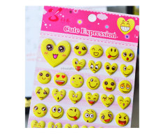 Cute expression-Emoji Stickers the Most Popular Emojis PVC Foam Smiley Face Stickers for DIY