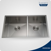 Undercounter stainless steel kitchen sink inserts with drainer