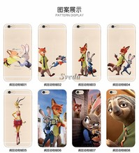 (Promotion Gift )Hot Movie Zootopia mobile phone case New Design Catoon Style TPU Phone Case for Iphone6/6plus/5/5s/5SE