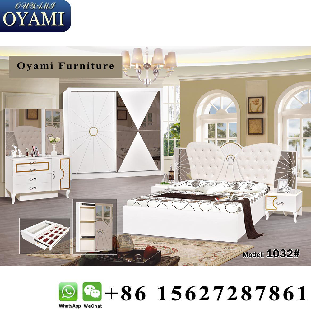Turkish furniture bed king size modern luxury bedroom furniture